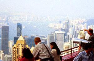 View of Hong Kong's Victoria Harbour, from the Peak.