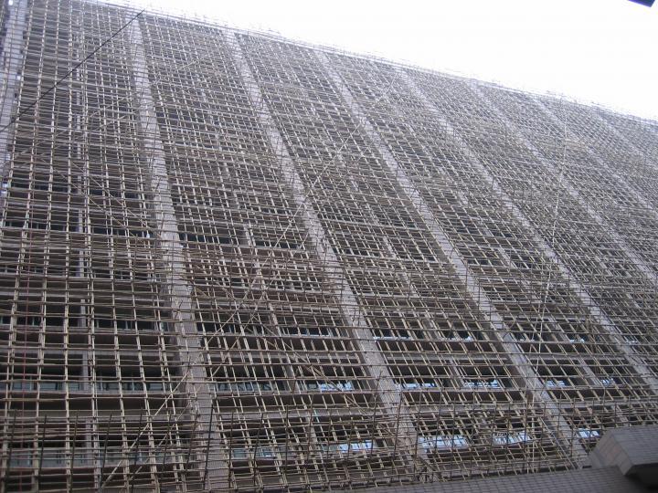 Bamboo scaffolding, Kowloon, Hong Kong