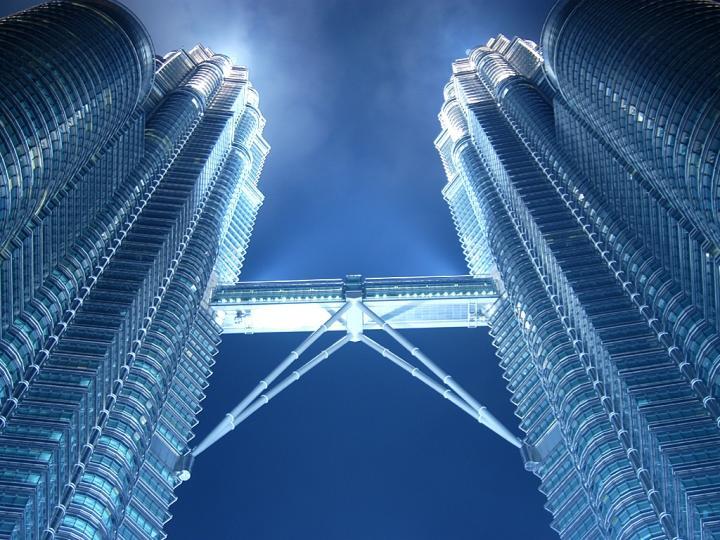 Petronas Towers at night. Kuala Lumpur, Malaysia.