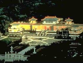 The National Palace Museum has a large collection of art and artifact from all of China's 6,000-year history. The museum houses more than 700,000 pieces of Chinese art treasure. The articles on display are rotated every 3 months.
