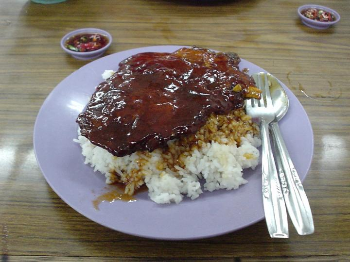 Spare ribs rice for the individual