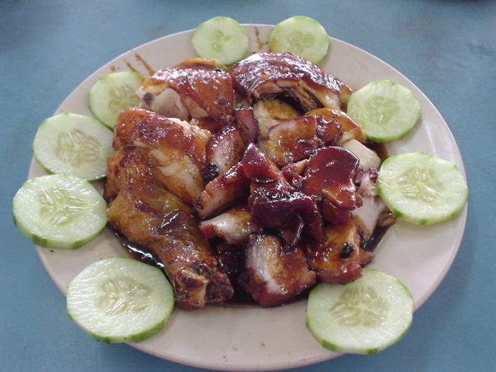 Chicken and barbecued pork