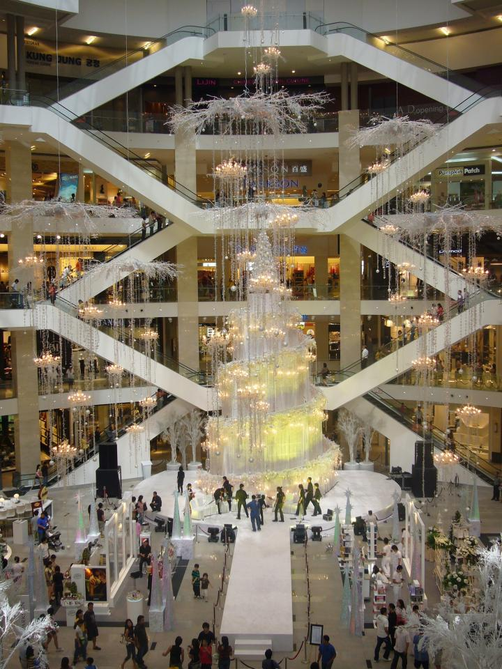 Christmas 2007 decor at Pavilion!