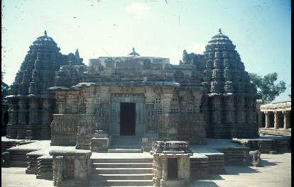 Near Mysore, the inner sanctum of the Somnathapura Temple, India.