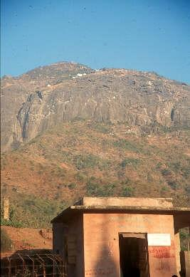 Base station of the Girnar Hill trail. Junagadh, Gujarat, India.