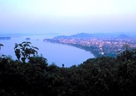 Guwahati, Assam, India: The wide Brahmaputra River provides a great setting for Guwahati.