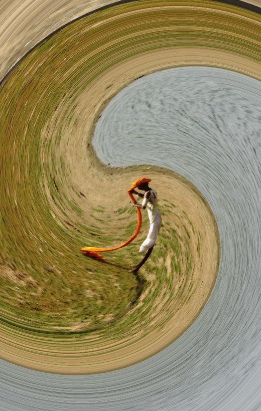 swirling turban, Pushkar  Rasjathan