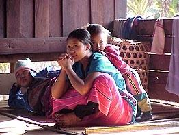 A Karen hill tribe family