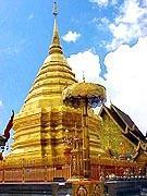 Stupa at Doi Suthep Temple in Chiang Mai Thailand