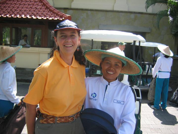 My golf caddy in Bali was an invaluable asset.