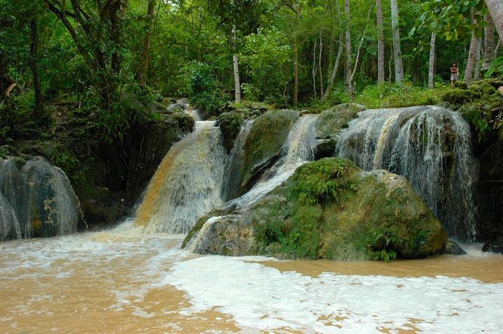 Philippines, Mindanao, Samal Island, Hagimit Falls
