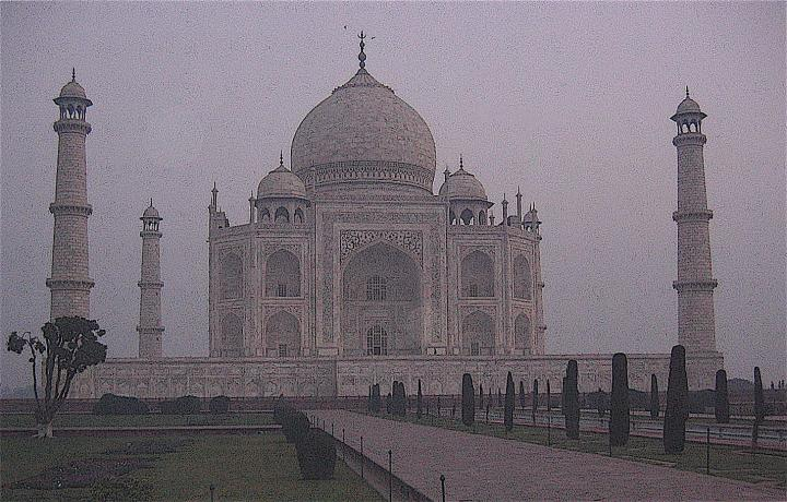 The Taj Mahal at dawn