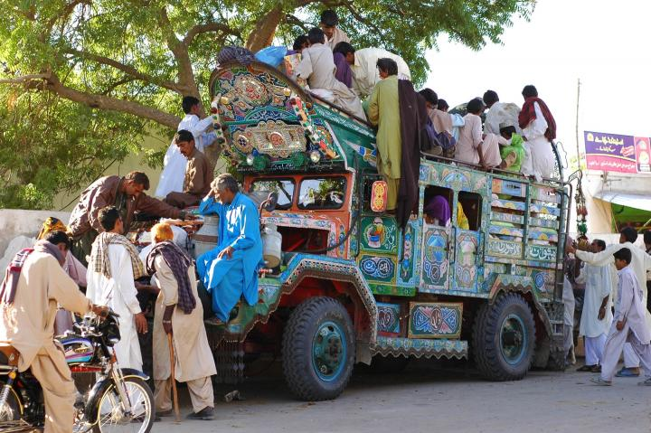 Kekra, a form of local transport made from American Army Trucks, used by Pakistan Army and later auctioned to their final owners. These Kekras have powerful engines and therefore, are suitable for desert travel. With the advent of new roads in Thar desert, Kekras may not last that long.