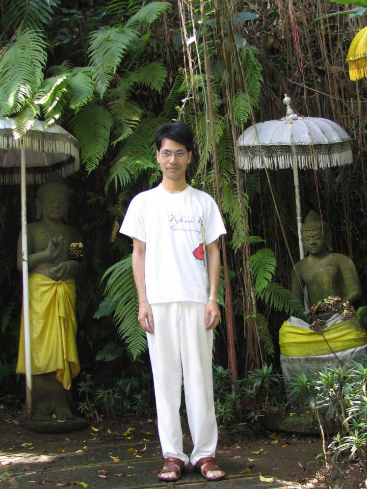 Me in the Meditation Court of Ubud Botanic Garden