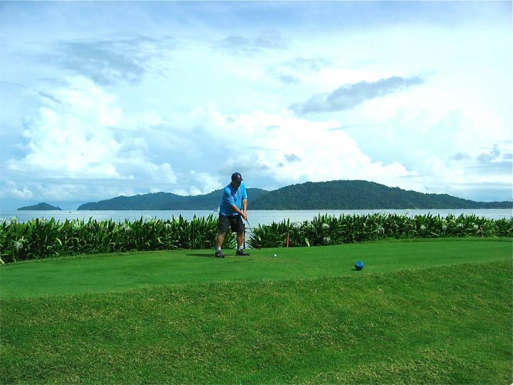 The golf course in Kota Kinabula was a feast for the senses.