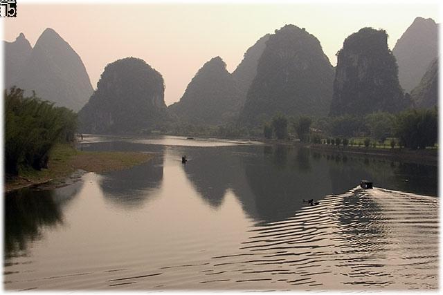 Sunset at Li-River
