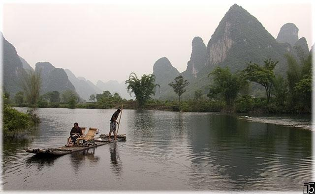 Raft ride on Yulong river