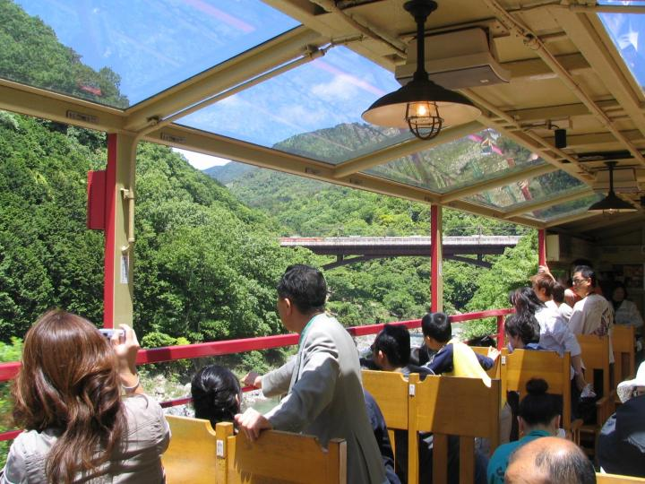 Torokko Train at Sagano Arashiyama area