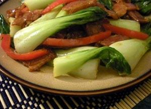 Hmong-Inspired Baby Bok Choy Stir-  Fry