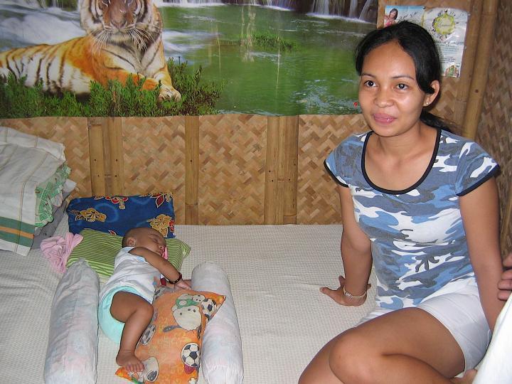 Imi and Joanna in their home on Boracay Island