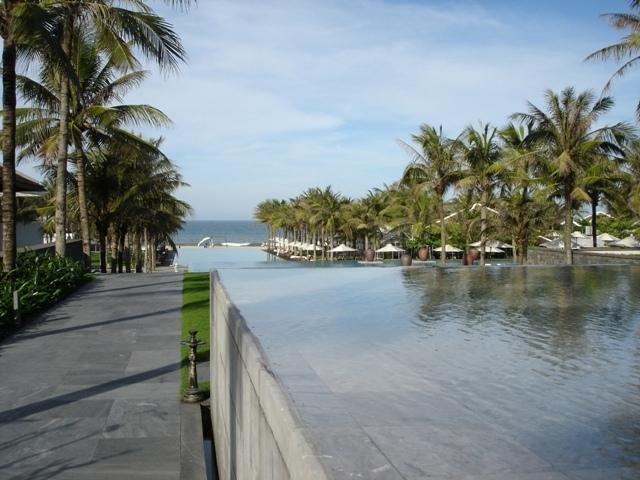 Infinity pools at the Nam Hai