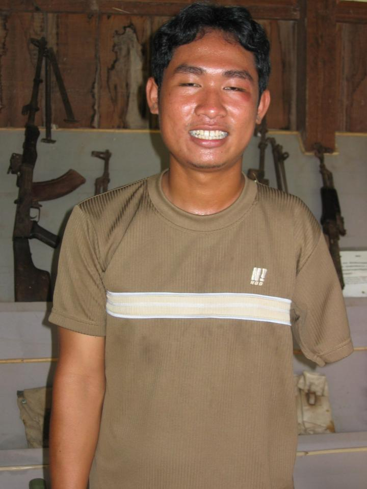 Khom was our tour guide at the Land Mines Museum in Siem Riep