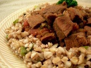 Persian Lamb Stew with Pearl Barley Pilaf