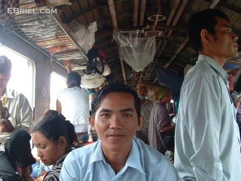 Richard on the Battambang train