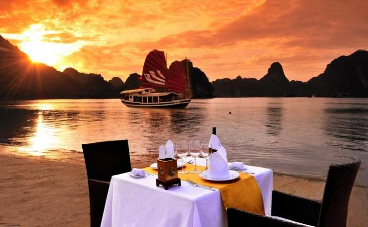 Sea Food in Halong Bay, Vietnam