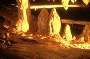 Mulu, Sarawak, Malaysia Spectacular limestone formations, in Lang's Cave