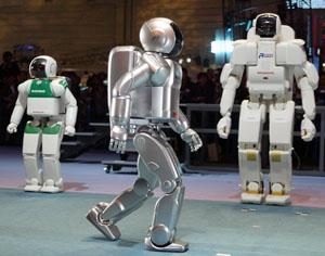 Honda's New Asimo robot at the Robodex 2003, Japan's largest robot exhibition in Yokohama.