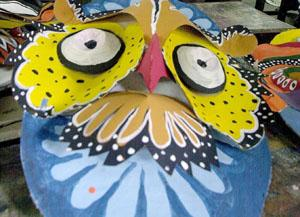 Color mask made by students at Bangladesh's Art Institute.