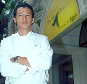 Bobby Chinn, outside his restaurant in Hanoi.