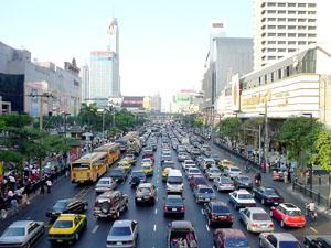 When I think of Bangkok, I think of taxis and cement.