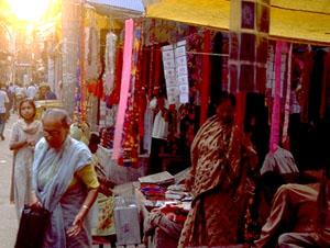 Evening bazaar, Nepalganj, Nepal.