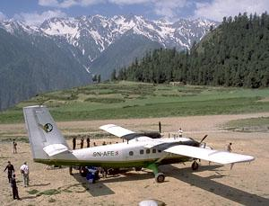 Yeti Airlines, on the airstrip in Simikot (9,400'), Nepal.