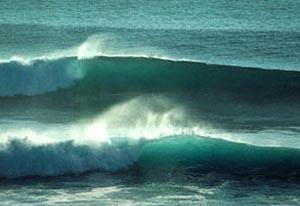 The legendary waves at Ulu Watu, Bali, Indonesia.