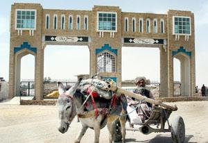 The Gate of Friendship at the Pakistan-Afghanistan border.
