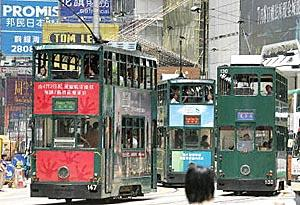 Hong Kong's trams are 100 years old.