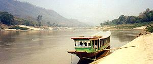 On the Mekong River, somewhere in Laos.