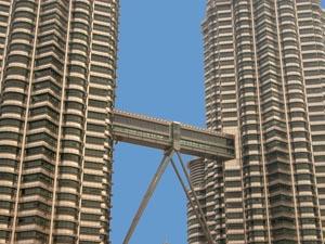 The Petronas Twin Towers, Kuala Lumpur, Malaysia.