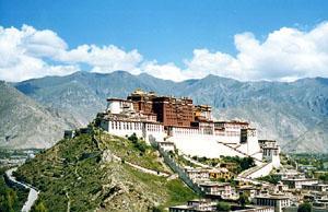 The Potala Palace above Lhasa, Tibet
