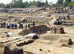 Excavation site of an ancient royal citadel dating back to the 7th century in Hanoi.