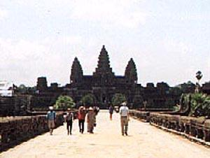 The Long Walkway to Angkor Wat.