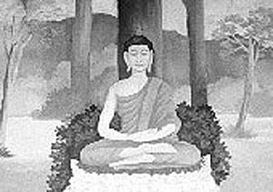 Buddha giving his first sermon. Wat Phrathat Doi Suthep, Chiang Mai, Thailand.