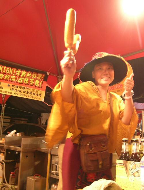 The Corndog lady worked diligently throughout the festival, feeding all who came with money delicious, nutritious corndogs.