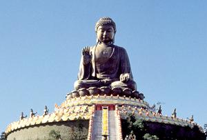 The Big Buddha on Hong Kong's Lantau island. It is the world's largest seated outdoor Buddha.