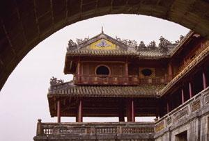 Under the gate to Hue's Imperial City