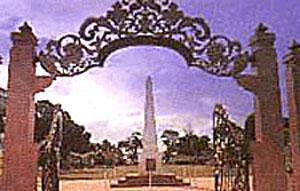 Merdeka Square, site of the declaration of independence of Malaysia. Kelantan, Malaysia.