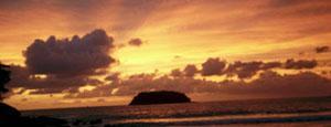 Sunset from Gung Café, Kata Beach, Phuket, Thailand.
